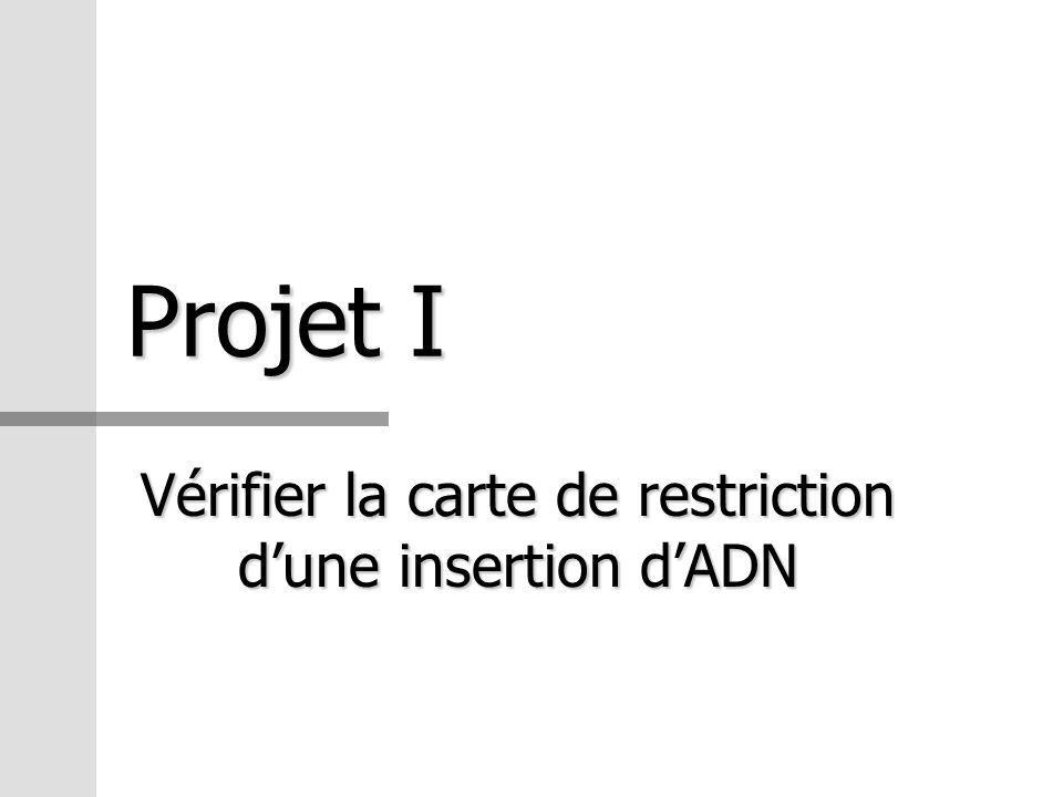 Vérifier la carte de restriction d'une insertion d'ADN