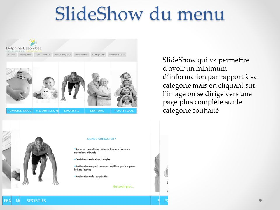 SlideShow du menu