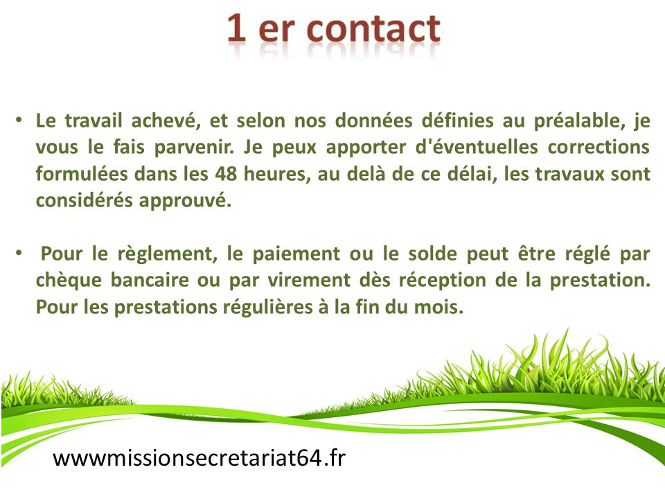 1 er contact wwwmissionsecretariat64.fr