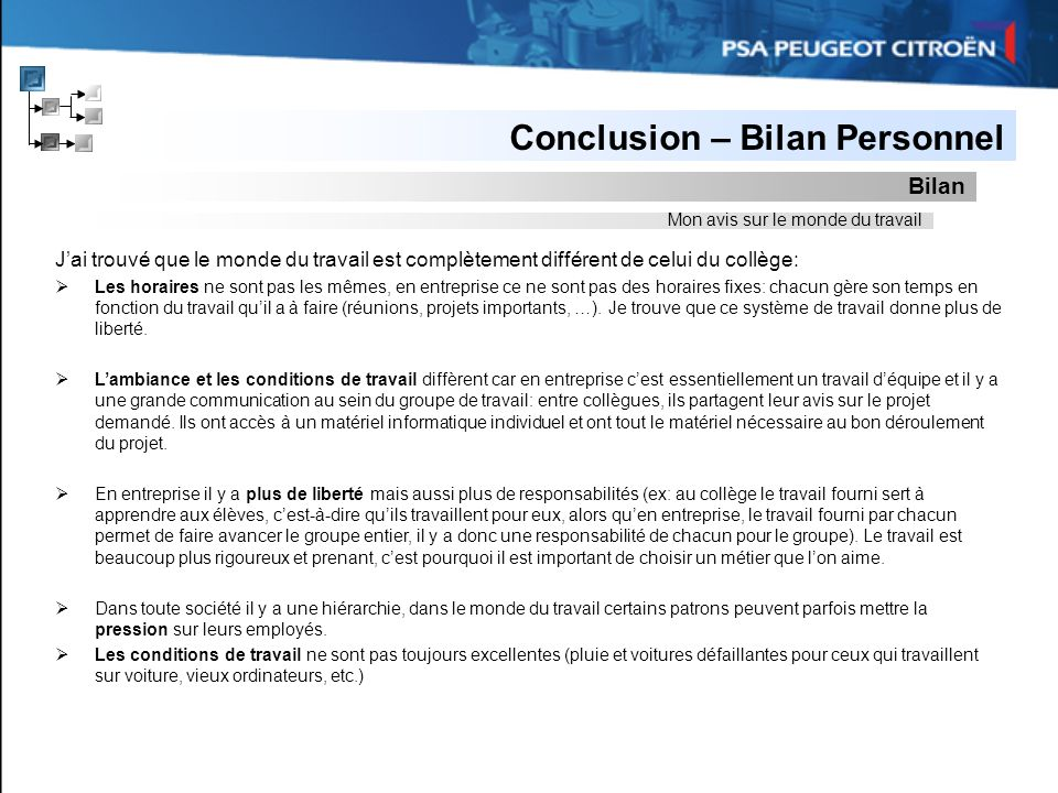 Stage De 3ème Psa Peugeot Citroën Page De Garde Ppt