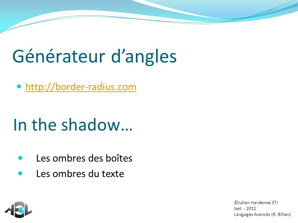 Générateur d'angles In the shadow… http://border-radius.com