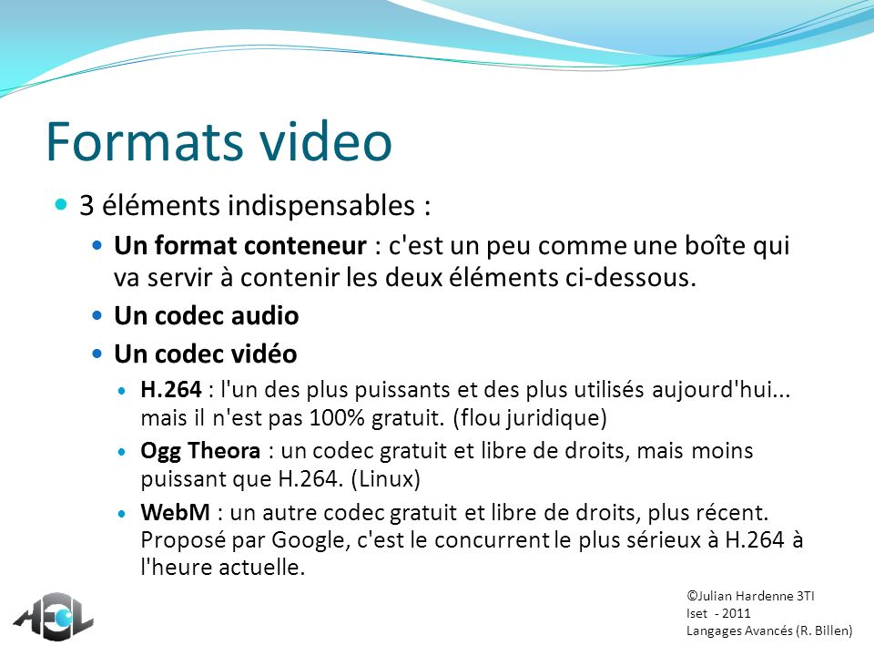 Formats video 3 éléments indispensables :