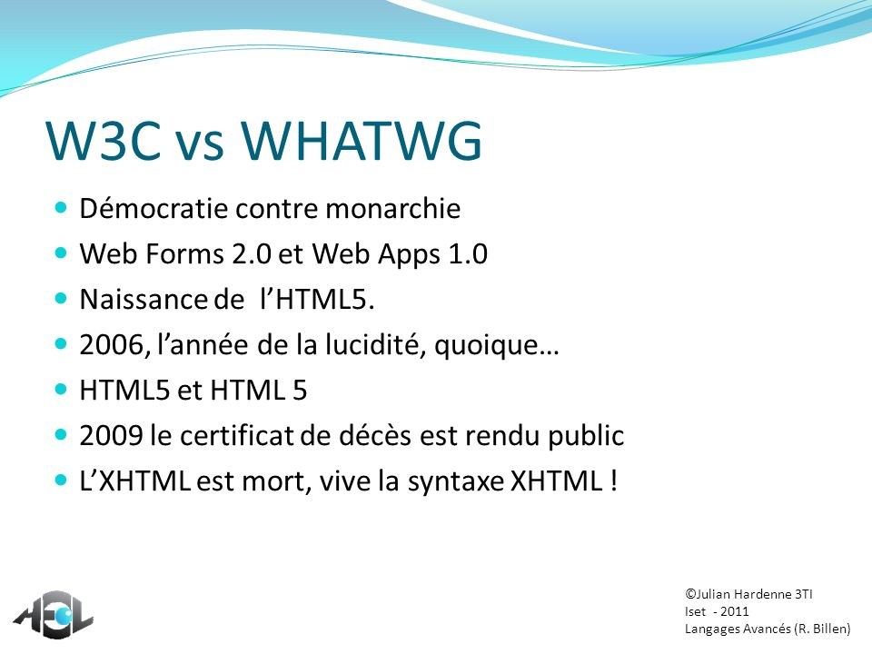 W3C vs WHATWG Démocratie contre monarchie