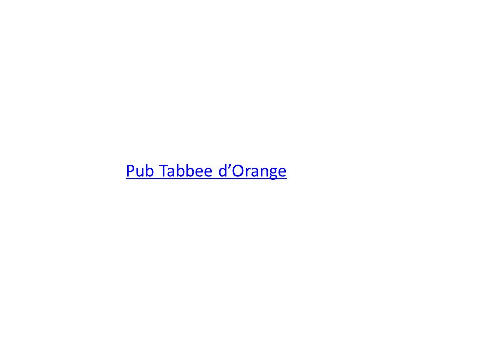 Pub Tabbee d'Orange