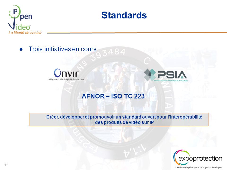 Standards Trois initiatives en cours AFNOR – ISO TC 223
