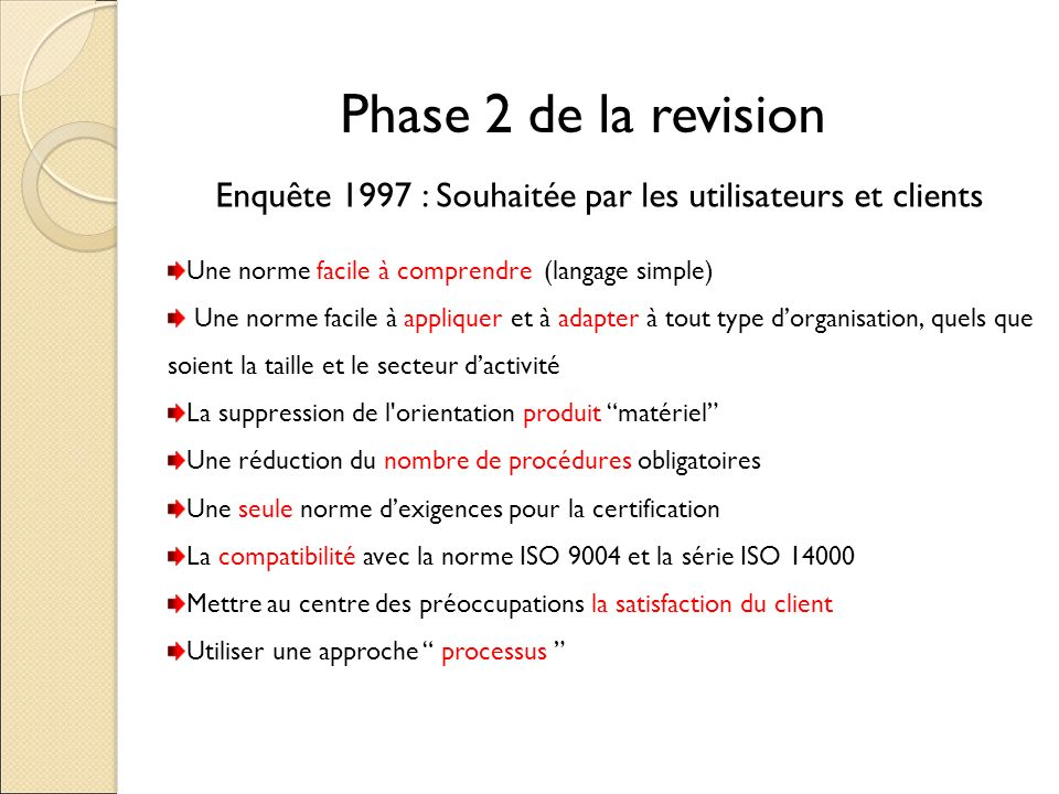norme iso 9001 version 2008 ppt