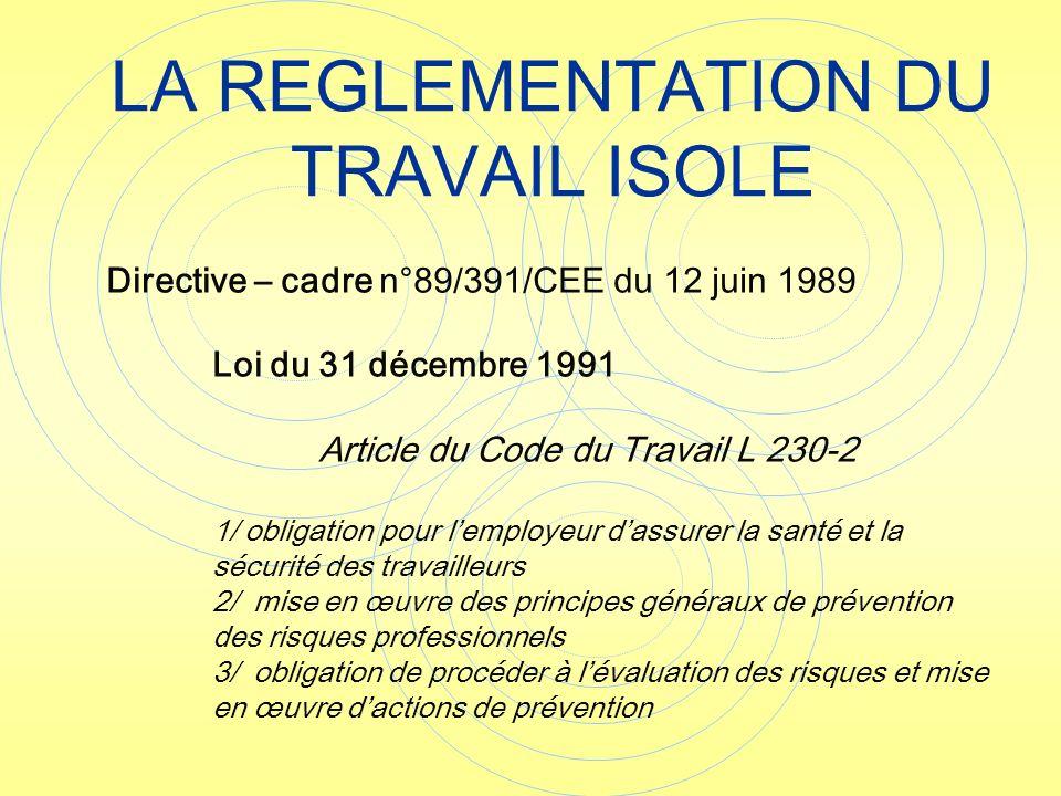 La Protection Du Travailleur Isole Sur Site Et Hors Site Ppt