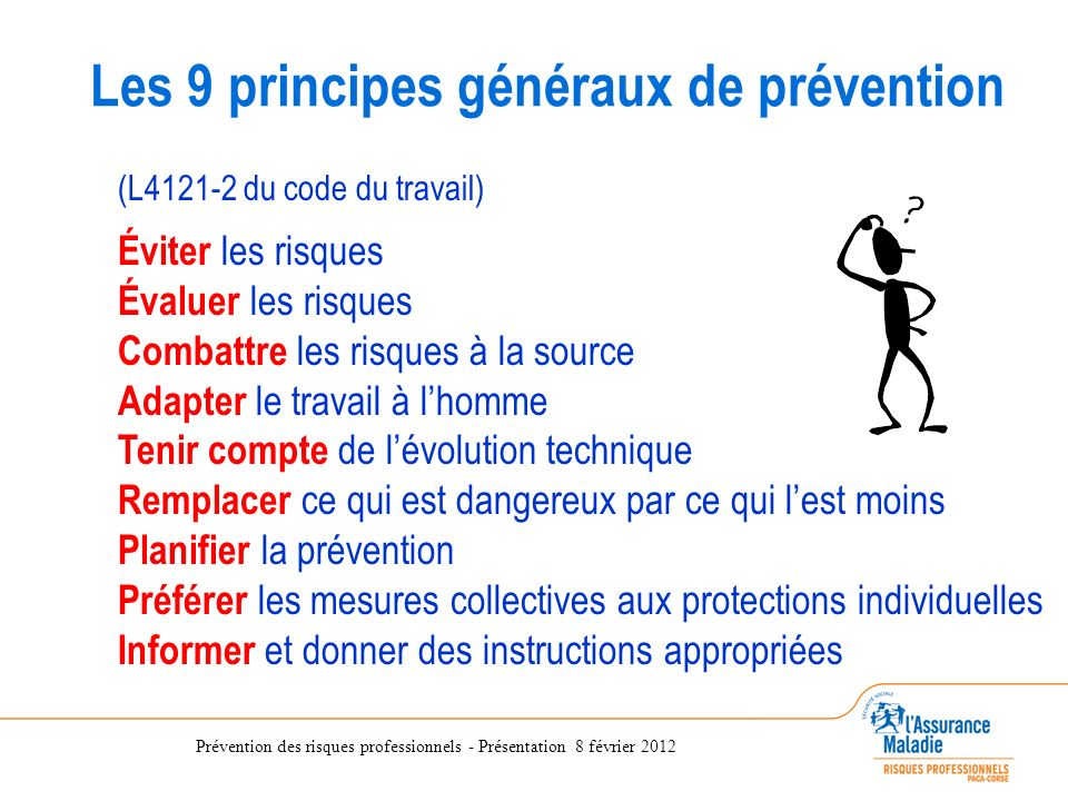 code du travail 9 principes de prevention