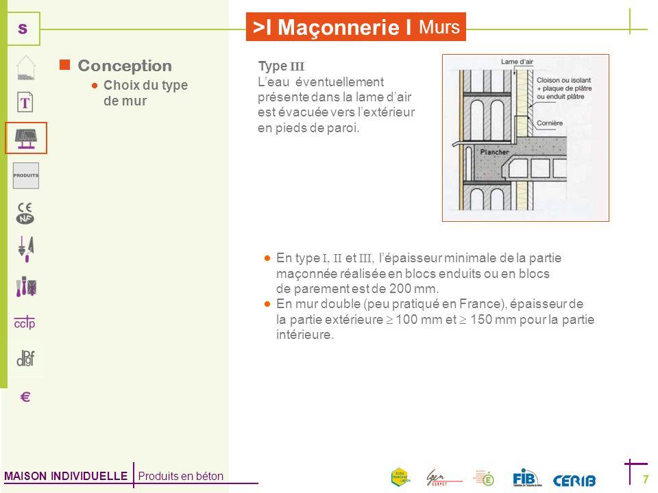 les murs le syst me constructif bloc b ton mise en uvre. Black Bedroom Furniture Sets. Home Design Ideas