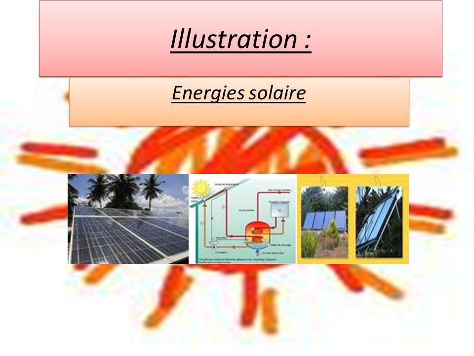Illustration : Energies solaire
