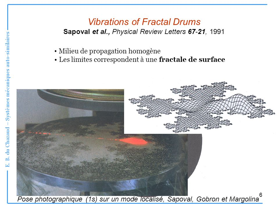 Vibrations of Fractal Drums