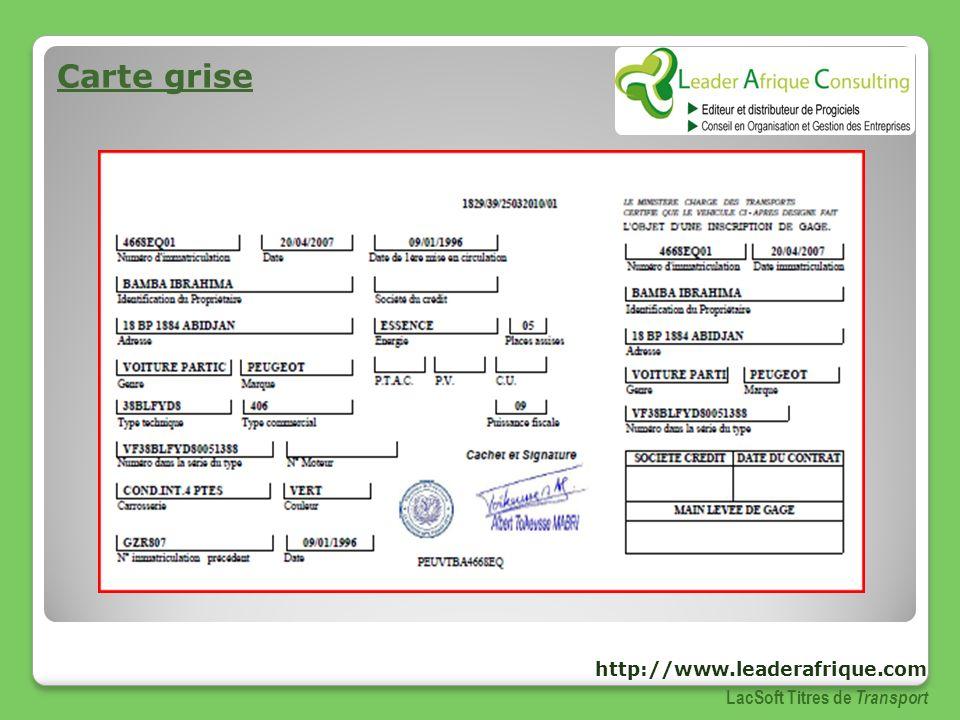 Carte Grise Madagascar.Presentation Du Logiciel De Gestion Des Titres De Transport