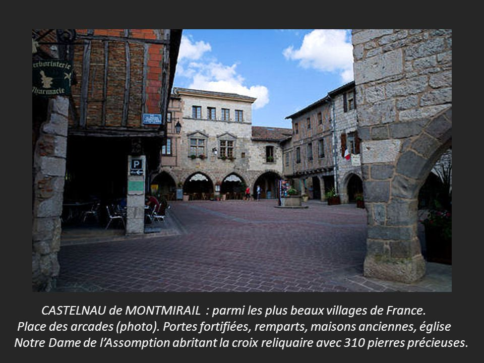 CASTELNAU de MONTMIRAIL : parmi les plus beaux villages de France.