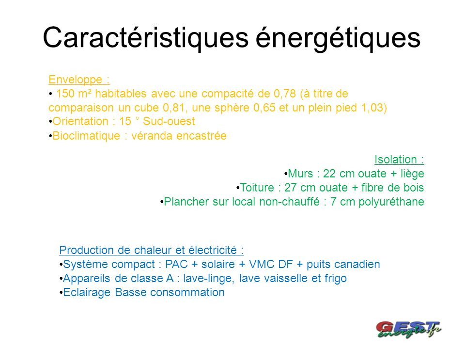 MAISON INDIVIDUELLE BASSE ENERGIE Ppt Télécharger - Classement energetique maison individuelle