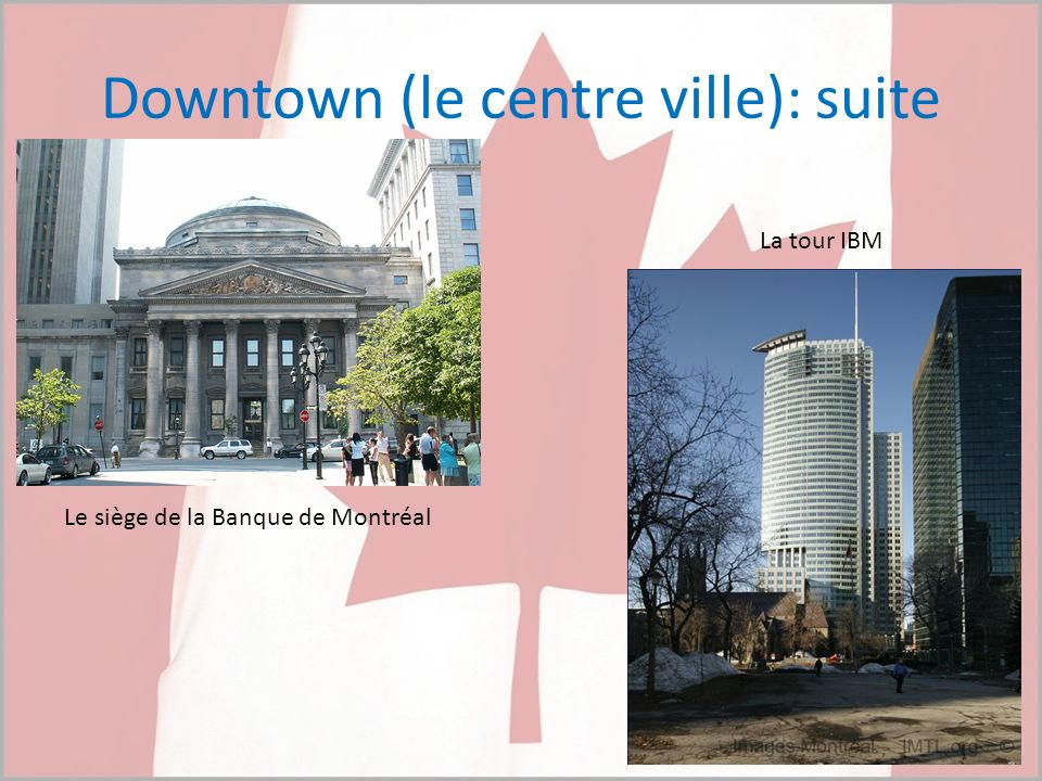 Downtown (le centre ville): suite