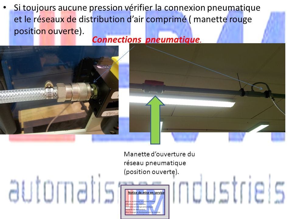 Connections pneumatique.