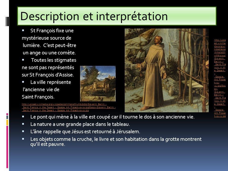 Description et interprétation