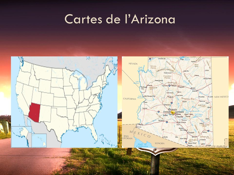 Cartes de l'Arizona