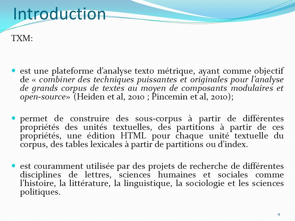 Introduction TXM: