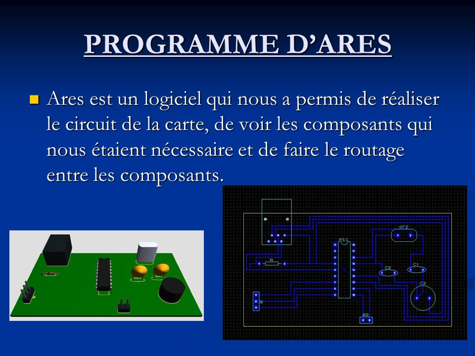 PROGRAMME D'ARES