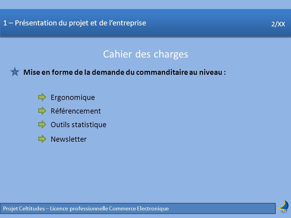 Concurrence Cahier des charges
