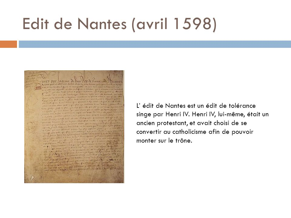 Edit de Nantes (avril 1598)