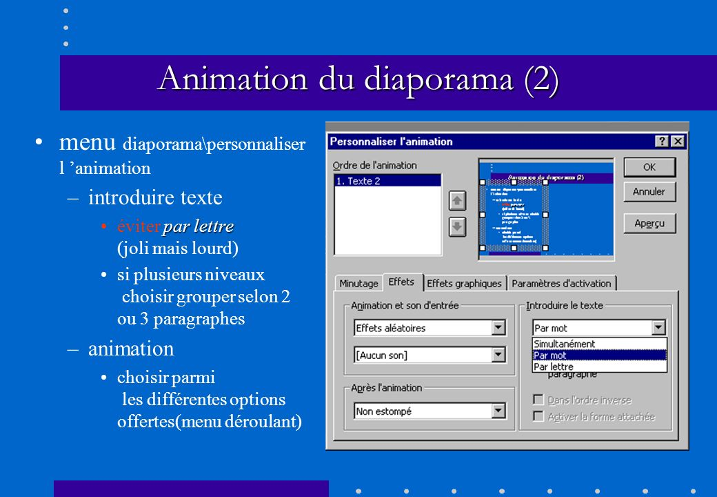 Animation du diaporama (2)