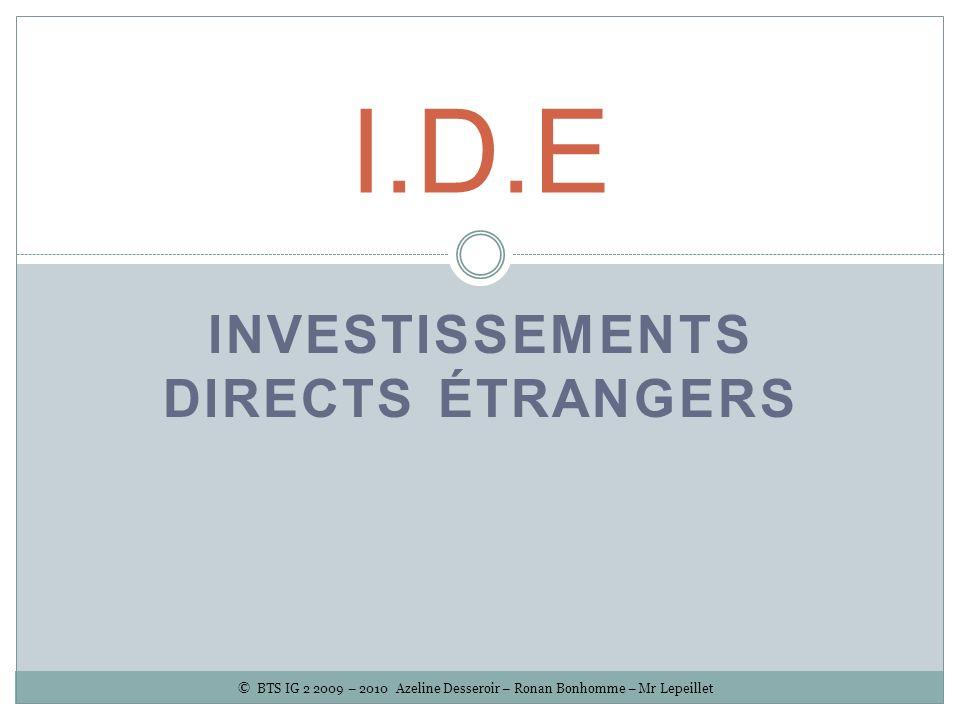 Investissements Directs Etrangers
