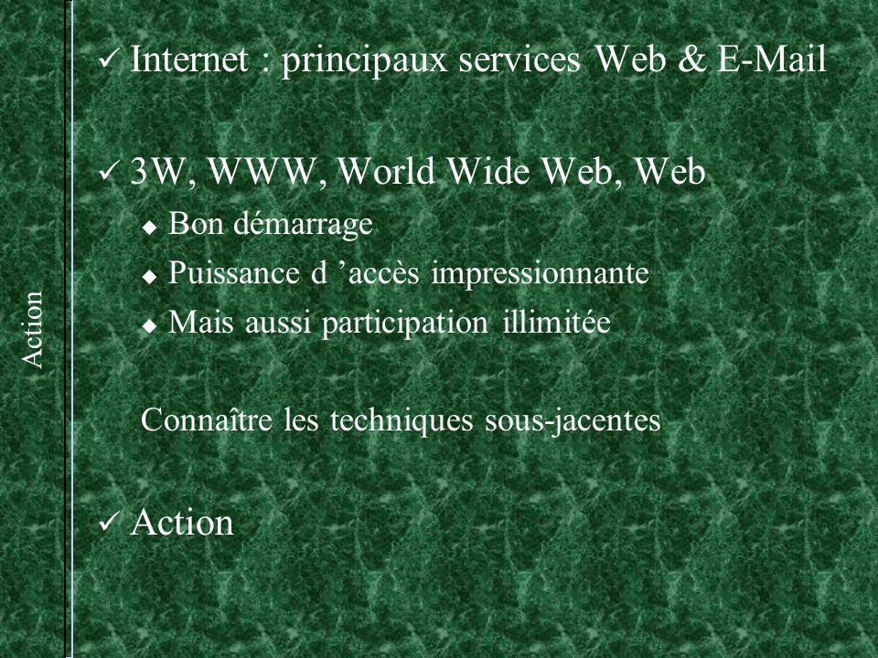 Internet : principaux services Web &