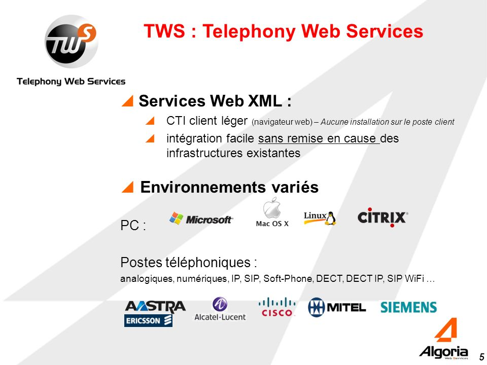 TWS : Telephony Web Services