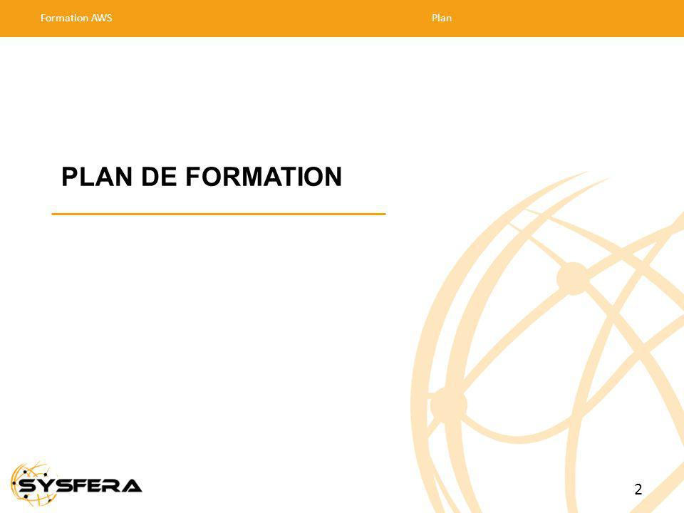 Formation AWS Plan 30/03/2017 PLAN DE FORMATION 2 2