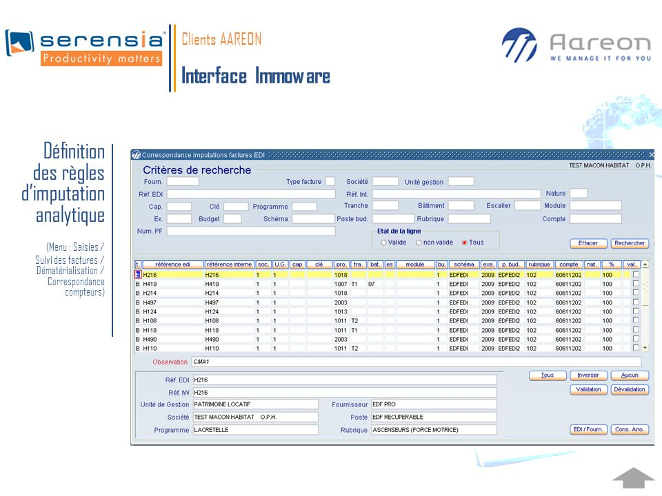 Clients AAREON Interface Immoware