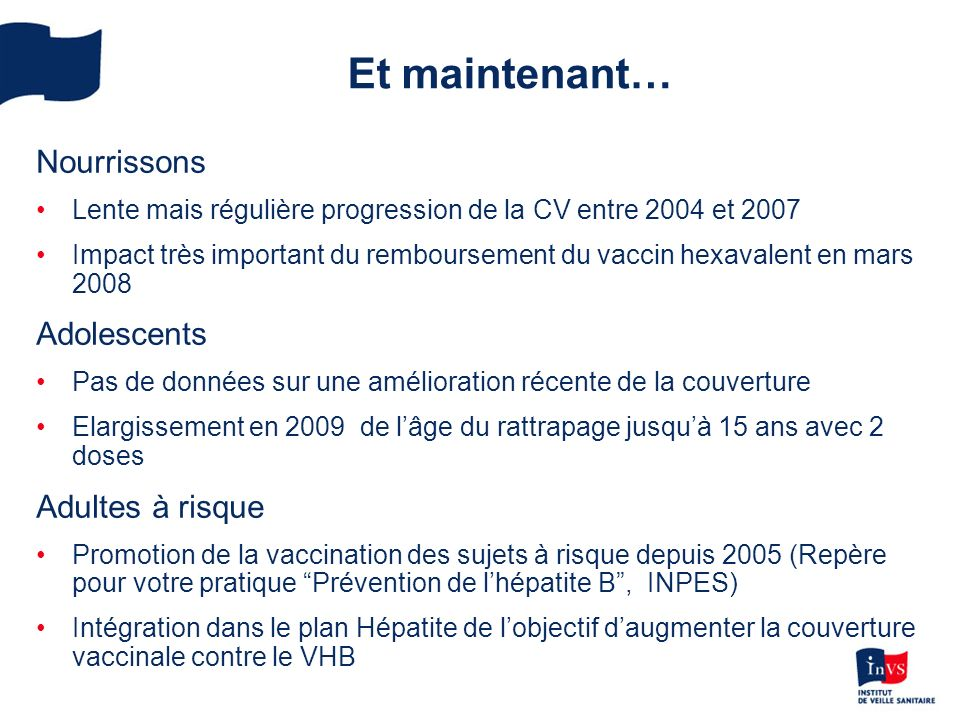 le vaccin vhb en france o u00f9 en est-on