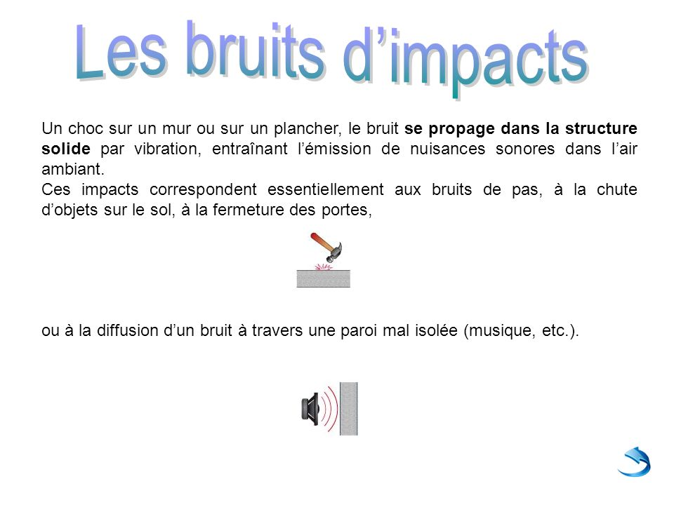Les bruits d'impacts