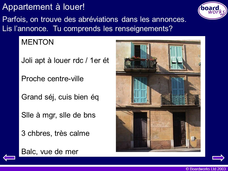 Table des mati res appartement louer ma chambre ppt t l charger - Appartement a louer une chambre ...