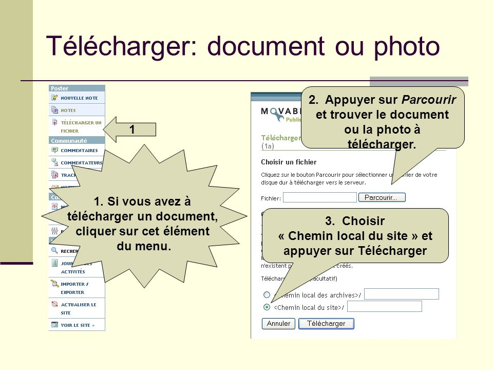 Télécharger: document ou photo