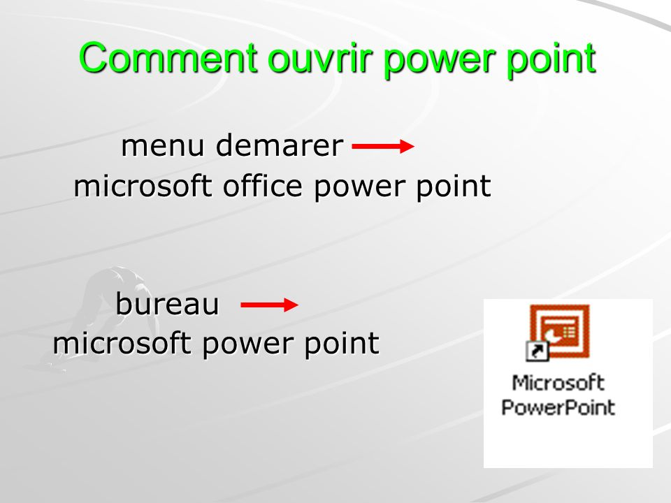 Comment ouvrir power point