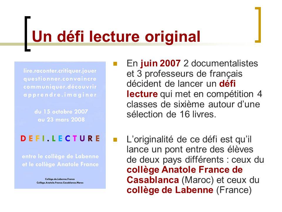 Lire Au College Un Blog Pour Un Defi Lecture Franco Marocain