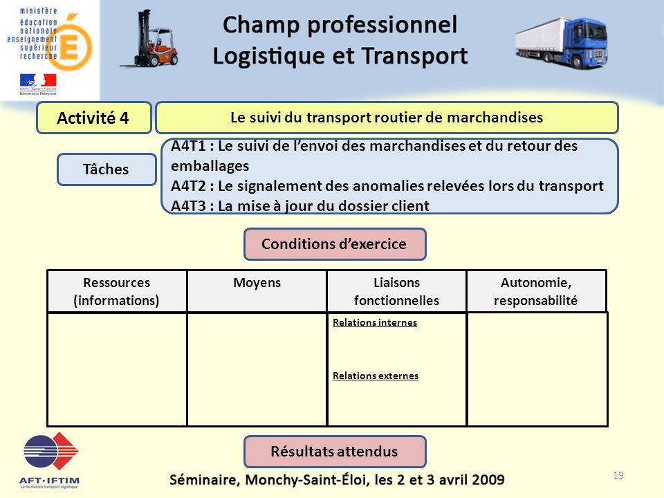 Le suivi du transport routier de marchandises Conditions d'exercice