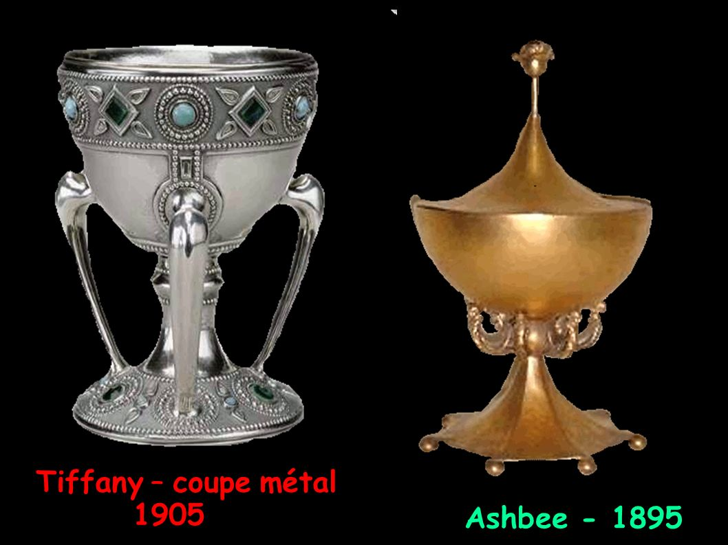 Tiffany – coupe métal 1905 Ashbee