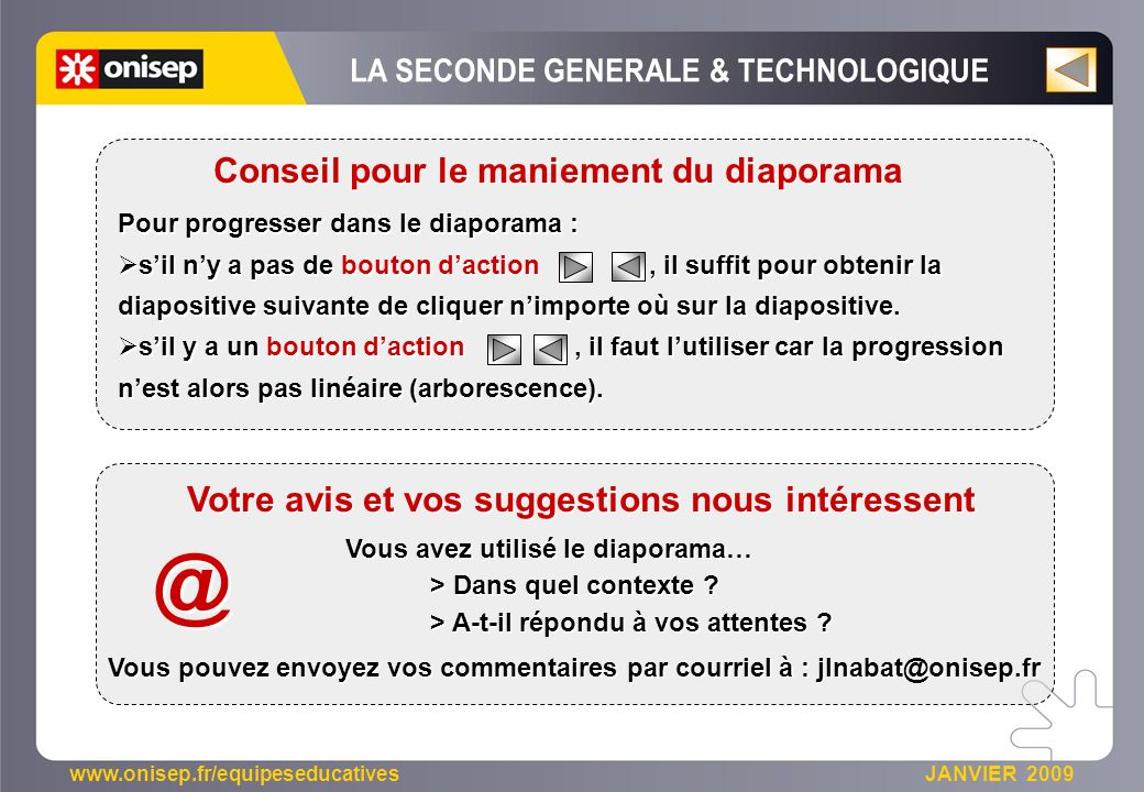 @ LA SECONDE GENERALE & TECHNOLOGIQUE