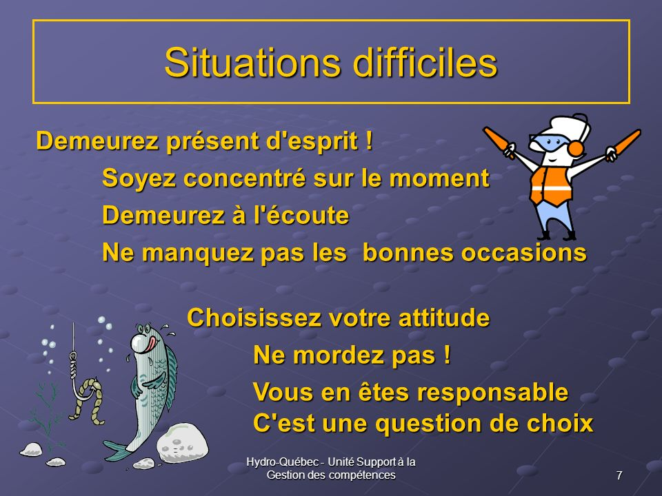 Situations difficiles