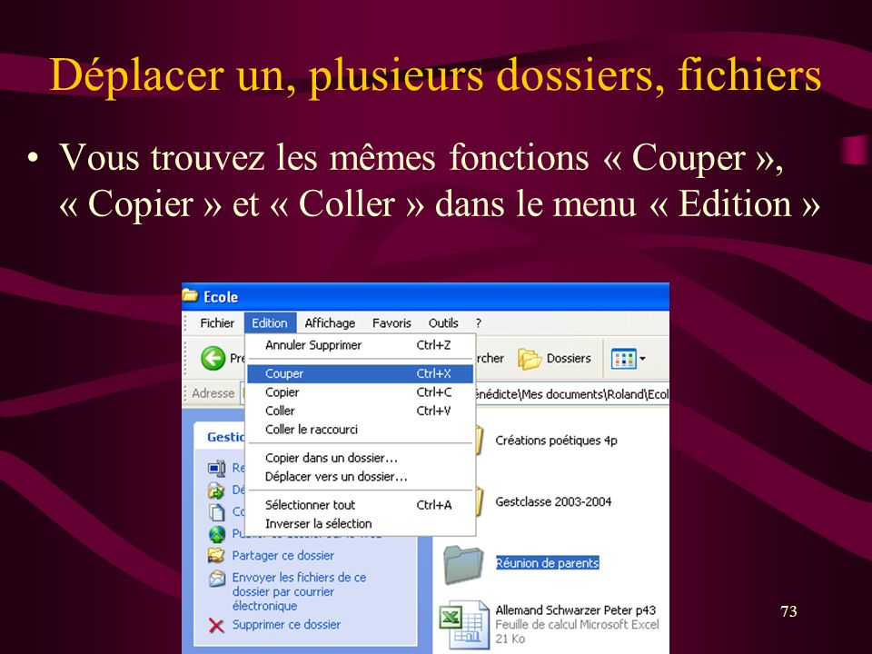 annuler suppression de fichier
