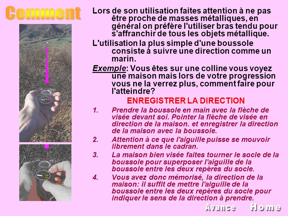 ENREGISTRER LA DIRECTION