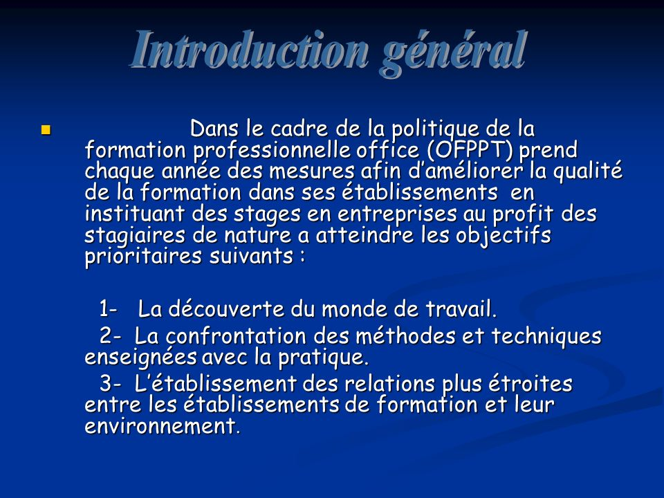 Introduction général
