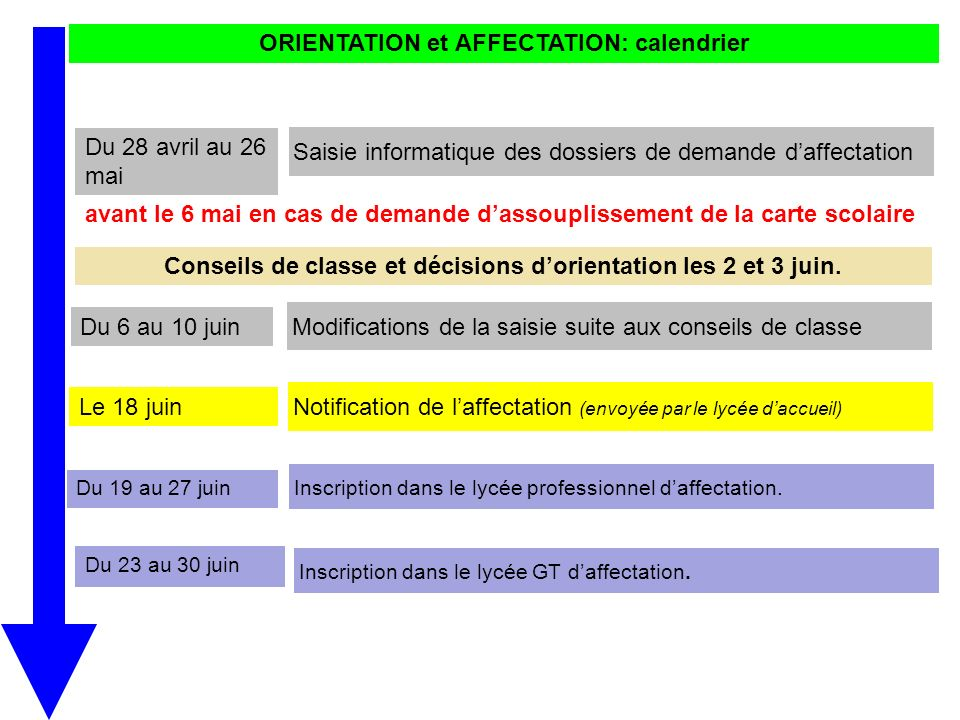 Preparation De L Affectation Apres La 3eme Ppt Video Online