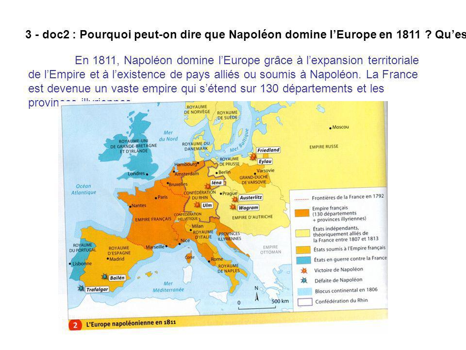 Carte De Leurope Napoleonienne En 1811.H2 Theme 3 La France Et L Europe En Ppt Telecharger