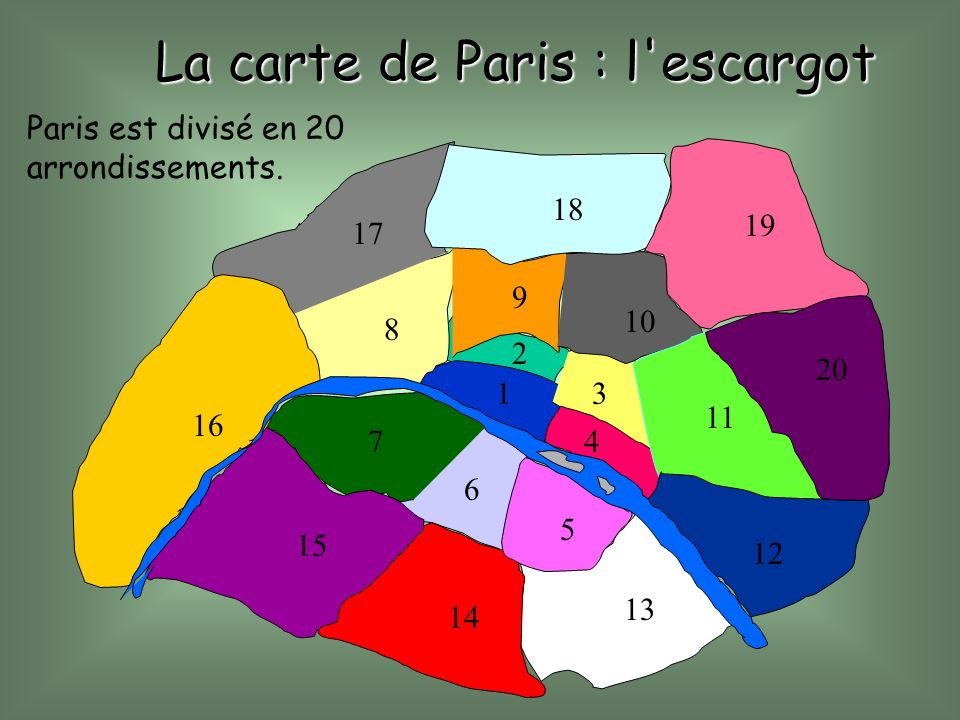 La carte de Paris : l escargot