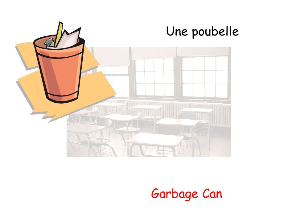 Une poubelle Garbage Can