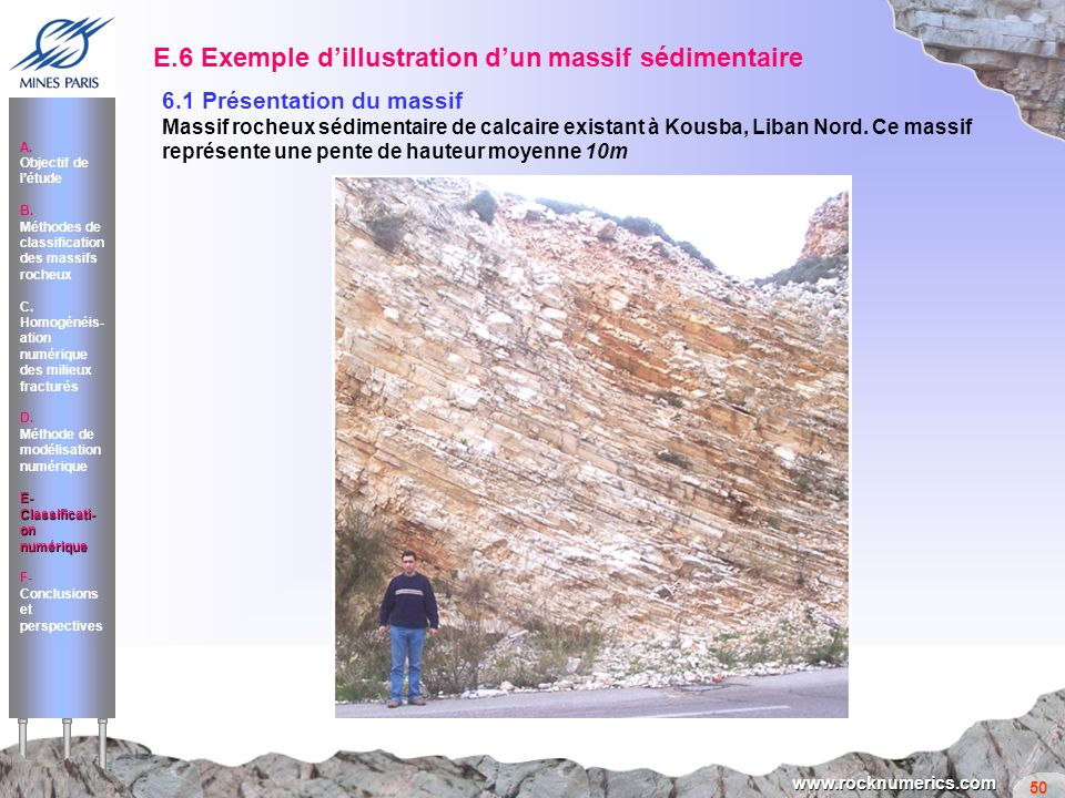 E.6 Exemple d'illustration d'un massif sédimentaire